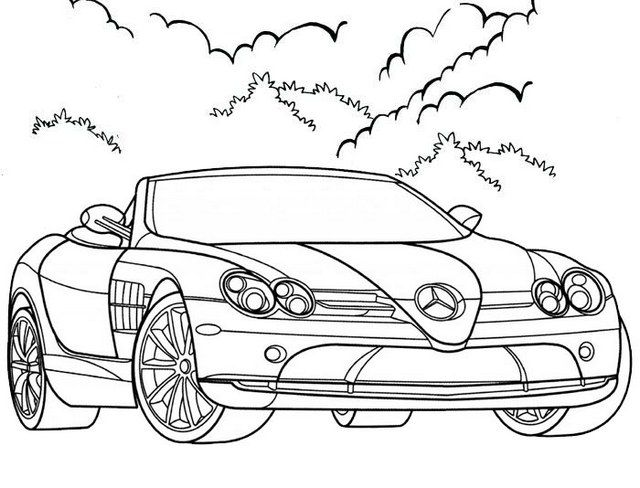 Elegant Convertible Coloring Page For Kids Coloring Pages Cars Coloring Pages Coloring Pages For Kids