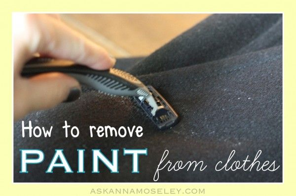 Have you ever had paint on your clothes? I have a trick that will help remove paint from clothing. The secret is a disposable razor and a soft touch. Take the piece of clothing and lay it flat. Using short, quick motion shave the dried paint off. Check out the post below to get the full details and to find out for which materials this is not recommended.