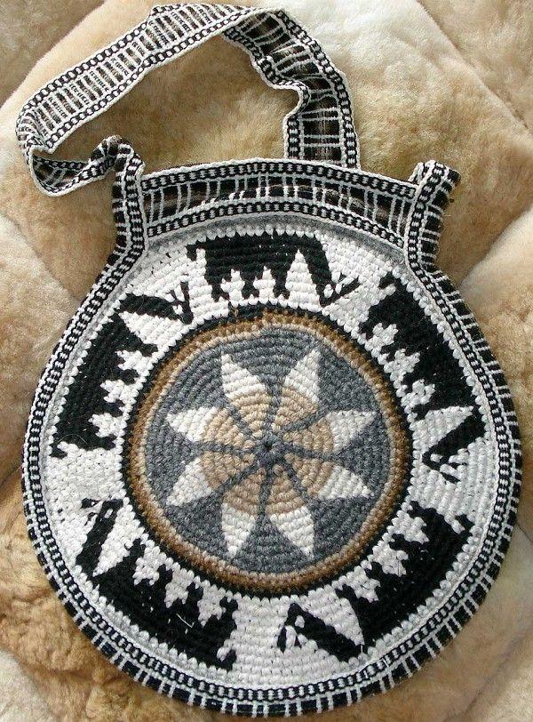 Peruvian Crochet Purse, buy pattern 14.99