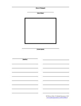 I created this when I wanted students to write their own newspaper article.  I have used it mainly in SS when I have them pretend they are a news r...