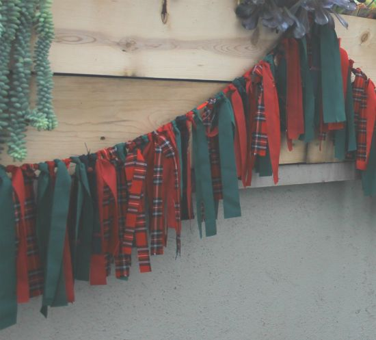 Fabric garland - could be done in any colors for any occasion.