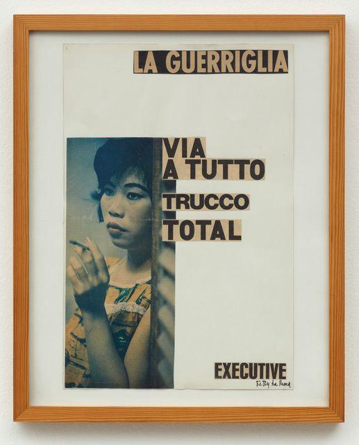 Ketty La Rocca, La Guerriglia , collage on paper 1964-1965