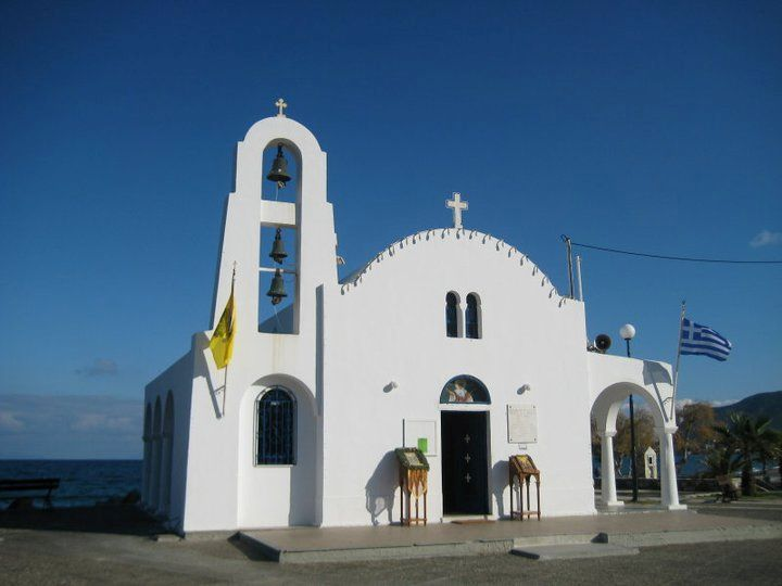 Agia Marina church by the sea. Porto Rafti