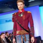 "London, 2013: ""Rudy Wolff's (Norwegian Designer) collection showcased a comeback of the flag trend, however shifting from the previously 'in fashion' American flag, to a small hint of either a typically Scottish tartan or British Union flag, as shown in the images throughout this article. - See more at: http://oninonline.com/london-fashion-week-emerging-trends-review/#sthash.q1DETEGm.dpuf"""