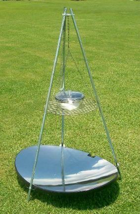 Solar cooker http://www.mealwormfarm.com/hqsolar/hqsolargrillonline.html