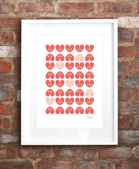 "Limited edition ""Apples"" screen print by iSpy"
