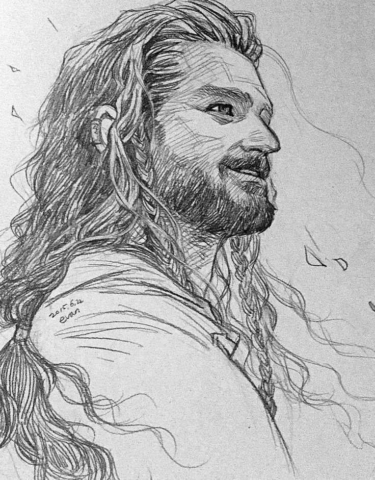 Smile (can always trust Evankart to draw Thorin beartifully)