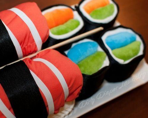 Sushi Cloth Diaper Cake - DIY with Video Tutorial!