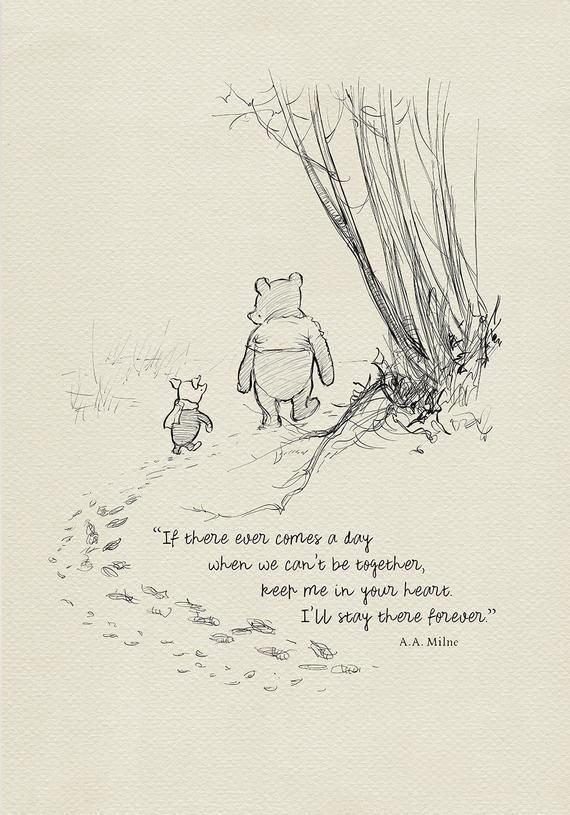 If there ever comes a day… Winnie the Pooh Quotes – classic vintage style poster print #04 – Lillymaus