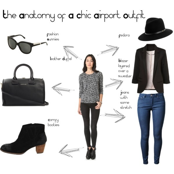 """""""The Anatomy of A Chic Airport Outfit"""" #what to wear when #traveling http://www.georama.com/blog/how-to-pack-light/ #airport #fashion"""