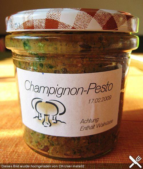 Chefkoch.de Rezept: Champignon - Pesto