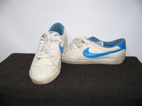 80s Tennis Shoes NIKE Canvas 8 Vintage Womens White By ScarletFury 4100