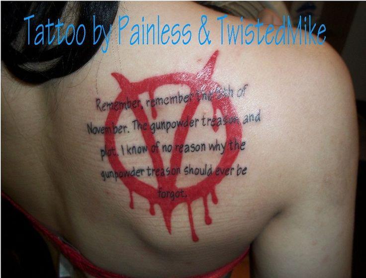 V For Vendetta Tattoo Ideas For vendetta Tattoo.
