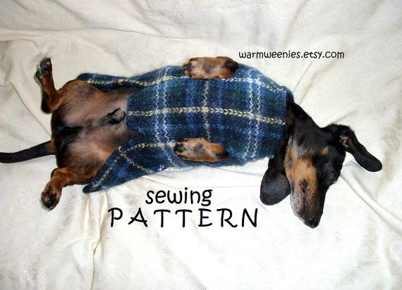 Dachshund Sewing Pattern DIY Sweater & Snood by WarmWeenies
