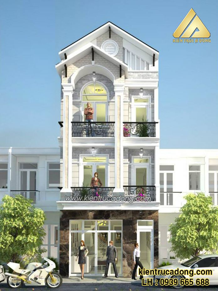 Mẫu thiết kế nhà phố đẹp sang trọng http://www.kientrucadong.com/mau-nha-pho-dep-677-103.html
