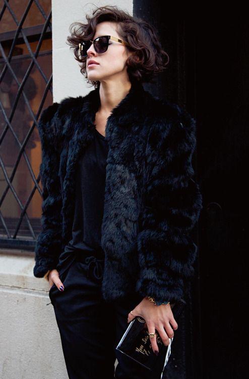 1000  ideas about Black Fur Jacket on Pinterest | Minimal style