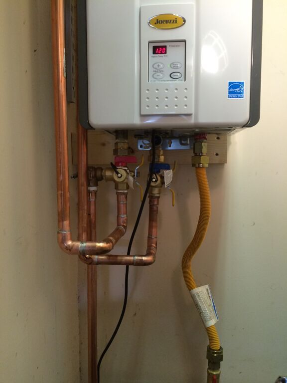 Tankless water heater installation cline plumbing llc for Pex pros and cons