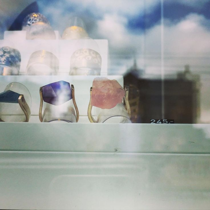 """Modern jewelry in the center of Amsterdam, like these """"chunky"""" rings. For more handmade dutch design jewelry, follow bofb - best of both - on instagram."""