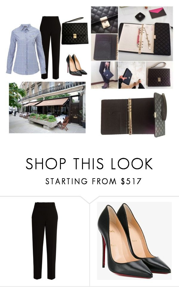 """""""just my organiserbag inmy lunchtimes"""" by selvisevil on Polyvore featuring moda, The Row, Christian Louboutin ve Barbour"""