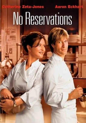 No Reservations (2007) Kate, an emotionally fragile chef whose life is turned upside down when she becomes her niece's sole guardian. Kate is used to absolute control -- both in her kitchen and at home. But now she faces chaos on all fronts, as both the child and her new sous chef work their way into her heart. Catherine Zeta-Jones, Aaron Eckhart, Abigail Breslin...TS comedy