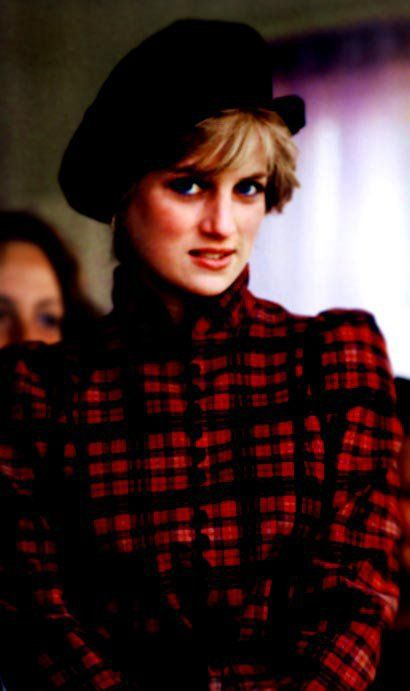 September 5, 1981: Princess Diana at the Highland games at Braemar. The first public outing since their wedding.