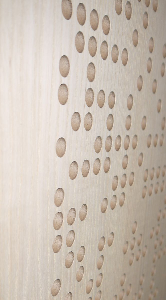 #RAW RPG BAD Expo Oak #acoustics #wood #oak #pattern #design #holes