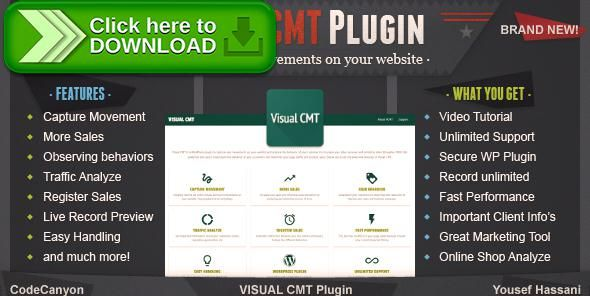 [ThemeForest]Free nulled download Visual CMT from http://zippyfile.download/f.php?id=56871 Tags: ecommerce, analyze tool, client tracking, customer behavior, customer tracking, marketing tool, movement recording, online shop tracking, sales analyze, sales tracking, Screen recorder, screen recording, SEM, sem tool