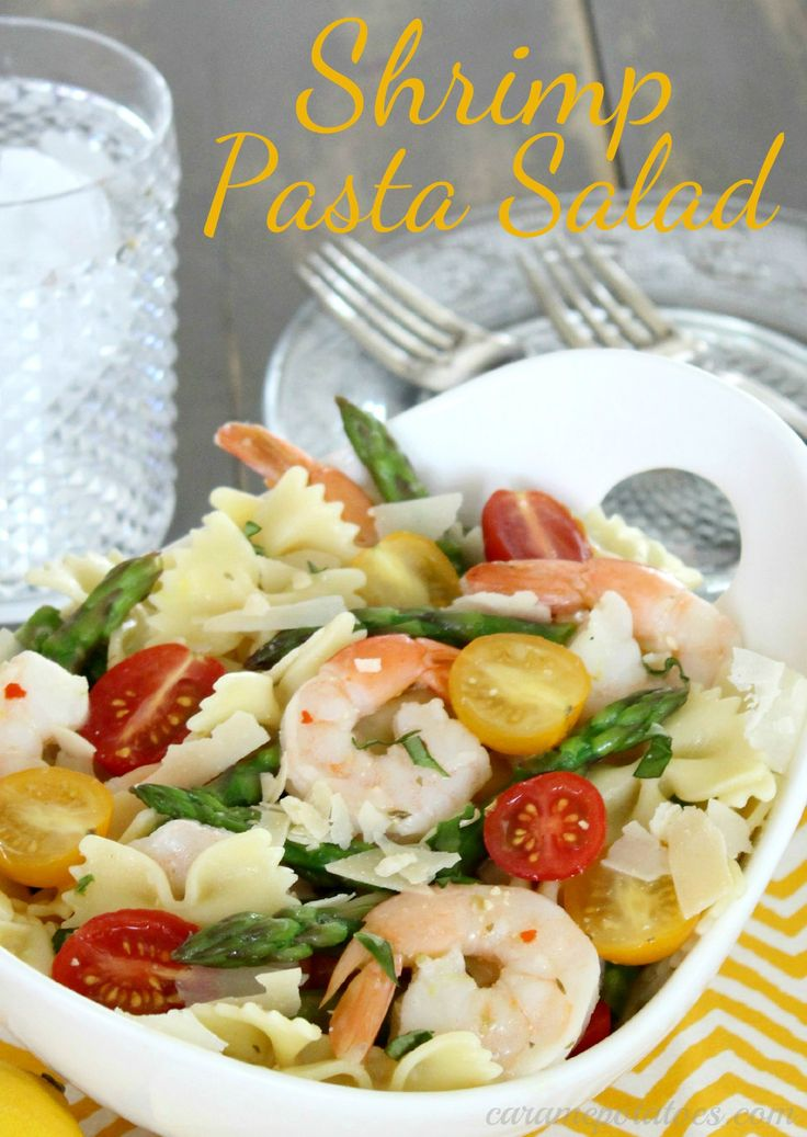 51 best shrimp images on pinterest seafood snacks and for Prawn and pasta salad recipes