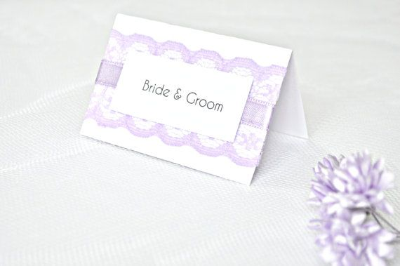 Lilac lace wedding place cards, Lavender wedding place cards, lilac wedding place cards, wedding placement cards, lilac placement cards