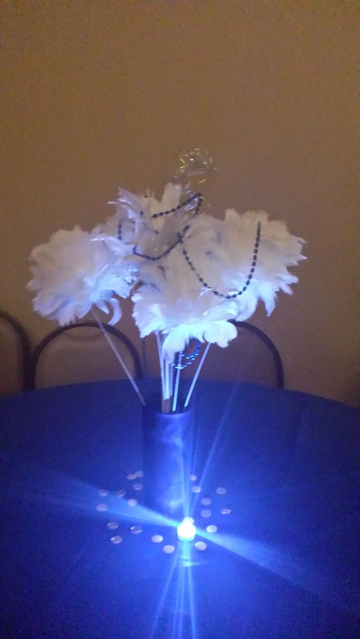 1000 images about denim pearls party on pinterest for Denim centerpieces