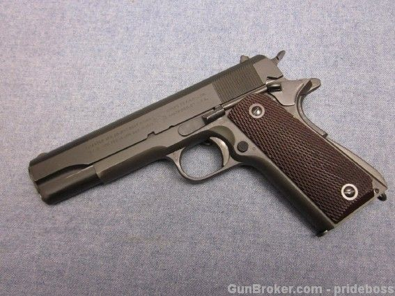 """COLT M1911A1 1942 Production - """"WB"""" Proofed - http://gunsforsalebuy.com/colt-m1911a1-1942-production-wb-proofed.html"""