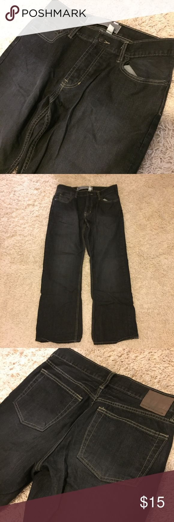 Men's bootcut jeans Great condition! Black wash color. GAP Jeans Bootcut