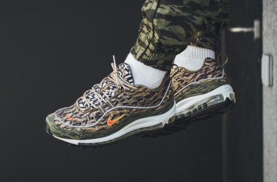 a895303843e Look Out For The Nike Air Max 98 All Over Print Camo Khaki The Nike Air