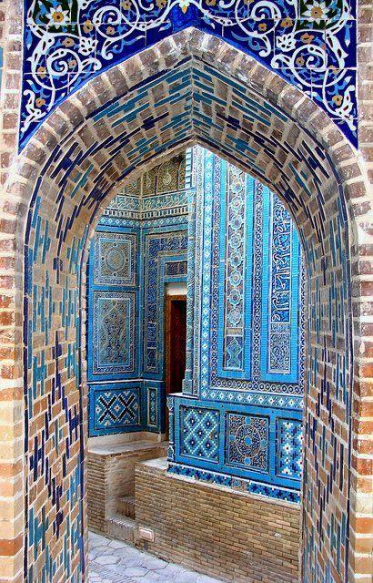 Shah-i-Zinda mausoleum complex ~ Samarkand, Uzbekistan | Flickr - Photo by jason.risley
