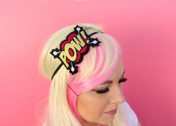 Gifts For Geeks  Comic Book Headband  Unusual by KawaiiHairCandy