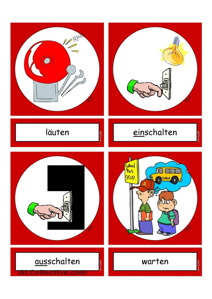 Flashcards_Verben_In der Schule_6_mittel