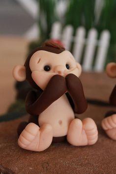 Tres monos sabios no oír ningún mal no ver ningún por GnomeWoods