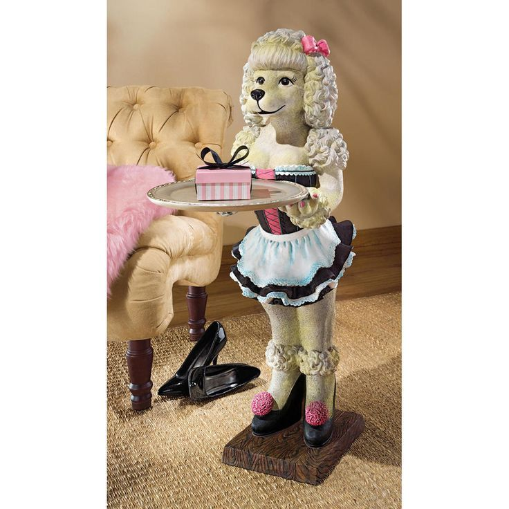 """Design Toscano 35½"""" Coco The Parisian Poodle Serving Table With Removable Tray  #DesignToscano #Novelty"""