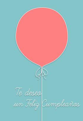 """Deseo de feliz cumple"" printable card. Customize, add text and photos. print for free!"