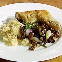 Kyllinglår med sopprisotto -