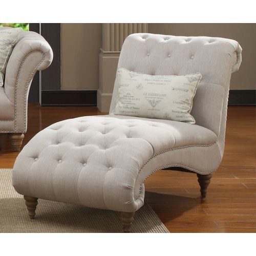 hutton offwhite linenlook button tufted chaise overstock shopping great deals on emerald home furnishings living room chairs
