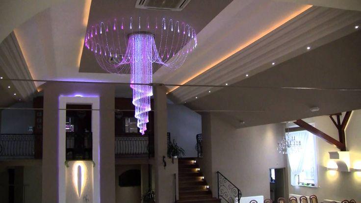 Żyrandol światłowodowy: sala weselna, bankietowa, dom weselny, lokal wes...