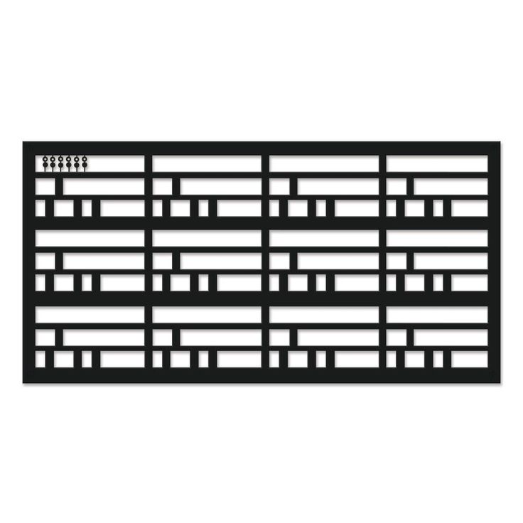 Grid axcents wright 48 in x 24 in black polypropylene