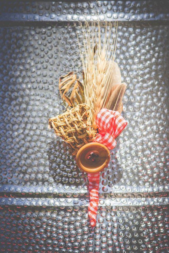 Men's Vintage Unique Orange Check Wheat by MeadowMenagerie on Etsy