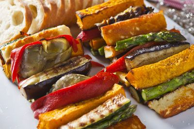 Food and Wine Matching - Chargrilled Vegetable Antipasto Plate