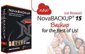NovaStor Announces NovaBACKUP Version 15 -- Backup for the Rest of Us - marketwired.com (14.11.2013)
