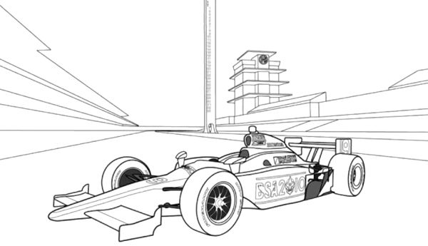 Indy Race Car Coloring Page Race
