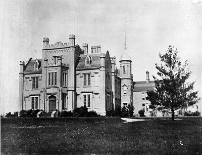 Trafalgar Castle in Whitby, Ontario; built between 1859-1862; home to Ontario Ladies' College after 1874