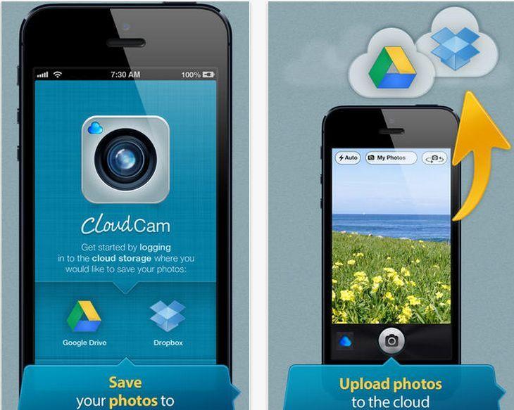 CloudCam - Camera App for Dropbox and Google Drive ➨ https://itunes.apple.com/in/app/id624658188?mt=8