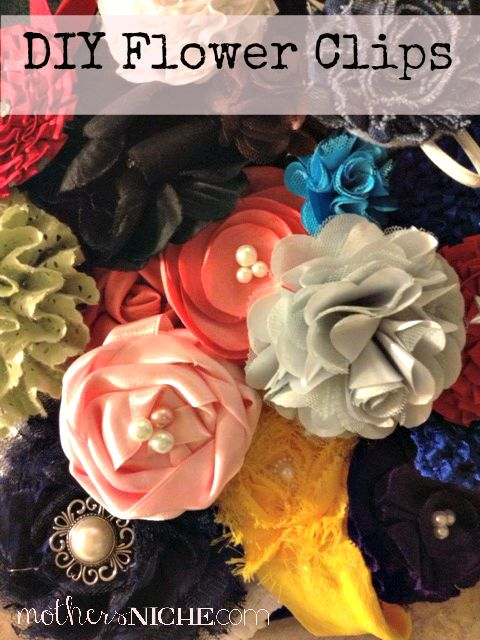 HOW to make a bunch of easy flower clips!  Don't spend money on these suckers, they are so cheap and easy to MAKE